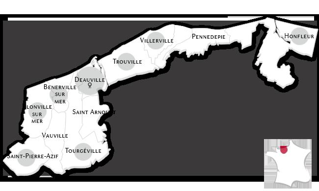 Las propiedades de lujo en Deauville y su región