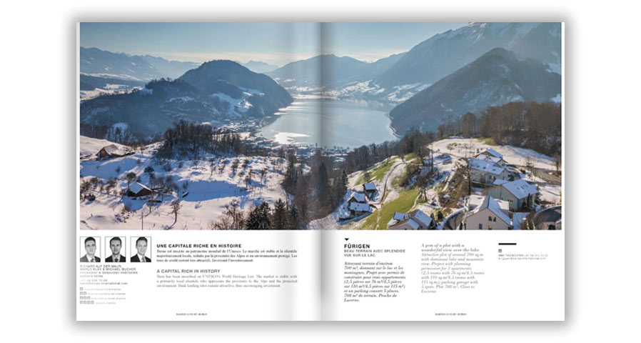 The new Automn-Winter of our magazine BARNES Luxury Homes Swiss Edition is available.